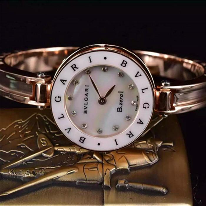 premium selection e94fc f0820 寶格麗Bvlgari手蜀手錶精鋼316全玫瑰金蘭寶石玻璃鏡面|TW手錶 ...